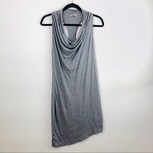 Helmut Lang cowl drape asymmetrical dress medium